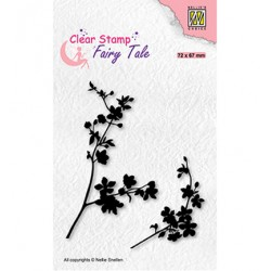 (FTCS032)Nellie's Choice Clear Stamp Fairy Tale, Blooming branch-2