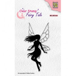 (FTCS033)Nellie's Choice Clear Stamp  Fairy Tale, Dancing elf-1