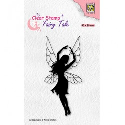 (FTCS034)Nellie's Choice Clear Stamp  Fairy Tale, Dancing elf-2