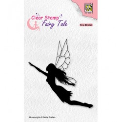 (FTCS035)Nellie's Choice Clear Stamp  Fairy Tale, Flying elf