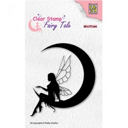 (FTCS036)Nellie's Choice Clear Stamp Fairy Tale, Elf on the moon