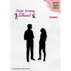(SIL086)Nellie`s Choice Clearstamp - Teenagers serie, A Date