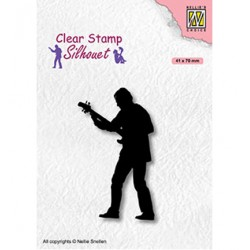 (SIL088)Nellie`s Choice Clearstamp - Teenagers serie, Guitar player