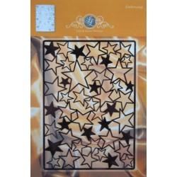 (1201/0023)Lin & Lene stencil-background stars