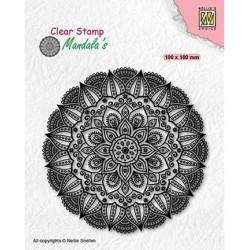 (CSMAN007)Nellie's Choice Clear stamps Mandala Dahlia flower