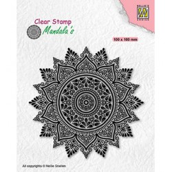 (CSMAN008)Nellie's Choice Clear stamps Mandala Sunflower-2