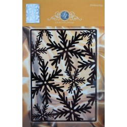(1201/0024)Lin & Lene stencil - background snowflakes