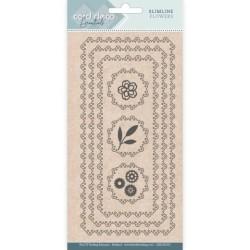 (CDECD0105)Card Deco Essentials - Slimline Dies - Slimline Flowers