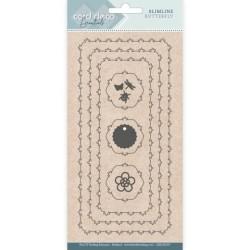 (CDECD0107)Card Deco Essentials - Slimline Dies - Slimline Butterfly