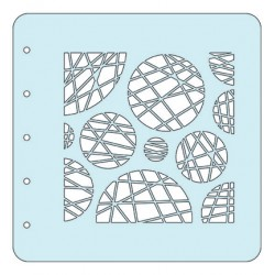 (COLST013)Nellies Choice Stencil Circles - for MSTS001