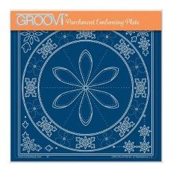 (GRO-PA-41743-03)Groovi Plate A5 TINA'S PETAL EMBROIDERY