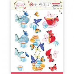 (SB10543)3D Push Out - Jeanine's Art - Butterfly Touch - Blue Butterfly