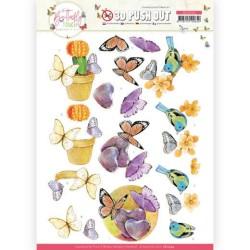 (SB10544)3D Push Out - Jeanine's Art - Butterfly Touch - Orange Butterfly