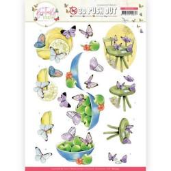 (SB10545)3D Push Out - Jeanine's Art - Butterfly Touch - Purple Butterfly