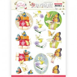 (SB10546)3D Push Out - Jeanine's Art - Butterfly Touch - Yellow Butterfly