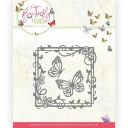 (JAD10122)Dies - Jeanine's Art - Butterfly Touch - Butterfly Square