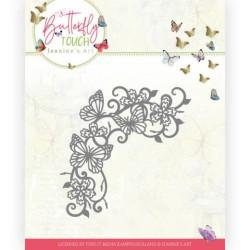 (JAD10124)Dies - Jeanine's Art - Butterfly Touch - Swirls and Butterflies
