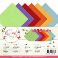 (JA-A5-10013)Linen Cardstock Pack - A5 - Jeanine's Art - Butterfly Touch