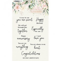 (SL-ALS-STAMP02)Studio light SL Clear Stamp Love-phrases Another Love Story nr.2