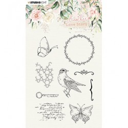 (SL-ALS-STAMP03)Studio light SL Clear Stamp Romantic elements Another Love Story nr.3