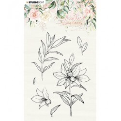 (SL-ALS-STAMP04)Studio light SL Clear Stamp Lily flower Another Love Story nr.4