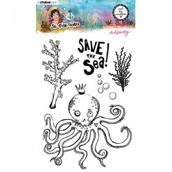 (ABM-SFT-STAMP09)Studio light ABM Clear Stamp Octopussy So-Fish-Ticated nr.9