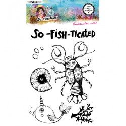 (ABM-SFT-STAMP10)Studio light ABM Clear Stamp Underwater world So-Fish-Ticated nr.10