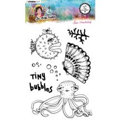 (ABM-SFT-STAMP13)Studio light ABM Clear Stamp Sea creatures So-Fish-Ticated nr.13