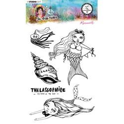 (ABM-SFT-STAMP14)Studio light ABM Clear Stamp Mermaids So-Fish-Ticated nr.14