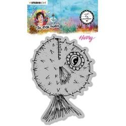 (ABM-SFT-STAMP15)Studio light ABM Cling Stamp Harry (Blowfish) So-Fish-Ticated nr.15