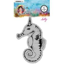 (ABM-SFT-STAMP16)Studio light ABM Cling Stamp Sally (Sea horse) So-Fish-Ticated nr.16