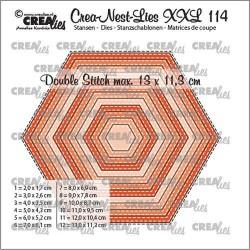(CLNestXXL114)Crealies Crea-nest-dies XXL Hexagons CLNestXXL114