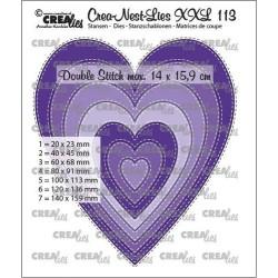 (CLNestXXL113)Crealies Crea-nest-dies XXL Slim hearts