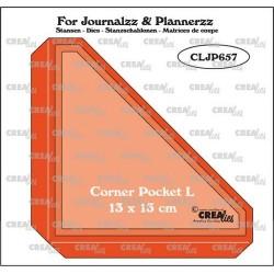 (CLJP657)Crealies Journalzz & Pl Pocket Corner L