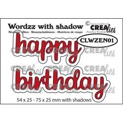 (CLWZEN01)Crealies Wordzz with Shadow Happy Birthday