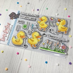 (T4T/661/Luc/Cle)Time For Tea Lucky Ducks Clear Stamps