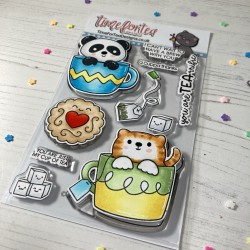 (T4T/649/Tea/Cle)Time For Tea Tearrific Pals Clear Stamps