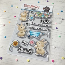(T4T/663/Blo/Cle)Time For Tea Tearrific Pals Clear Stamps