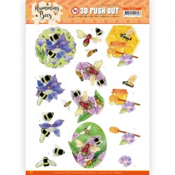 (SB10557)3D Push Out - Jeanine's Art - Humming Bees - Honey
