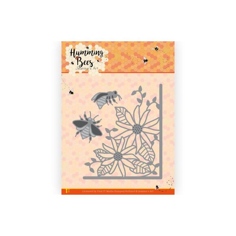 (JAD10129)Dies - Jeanine's Art - Humming Bees - Flower Corner