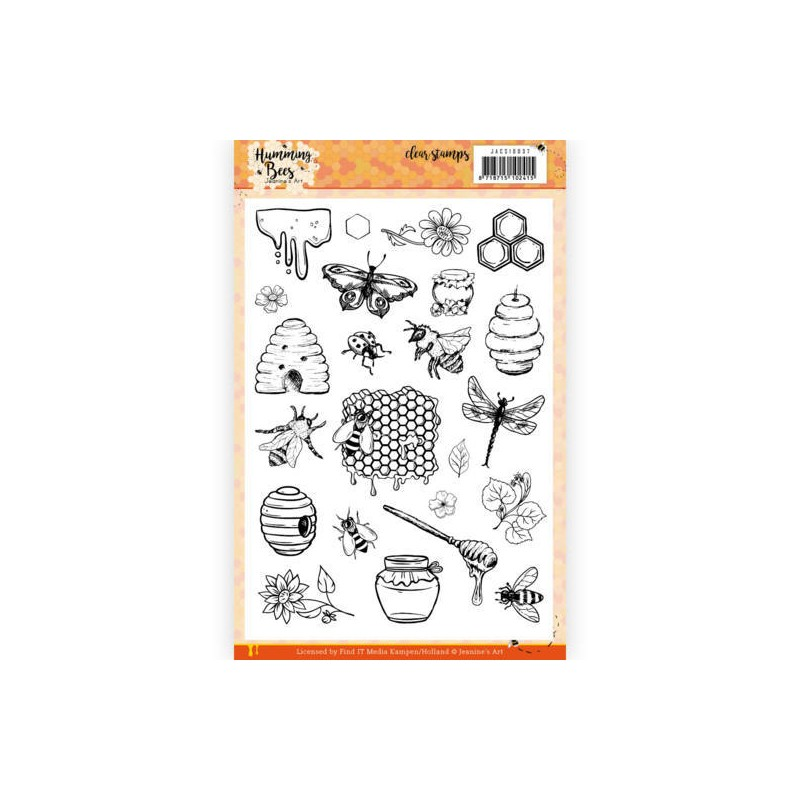 (JACS10037)Clear Stamps - Jeanine's Art - Humming Bees