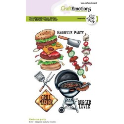 (1511)CraftEmotions clearstamps A6 - Barbecue party Carla Creaties