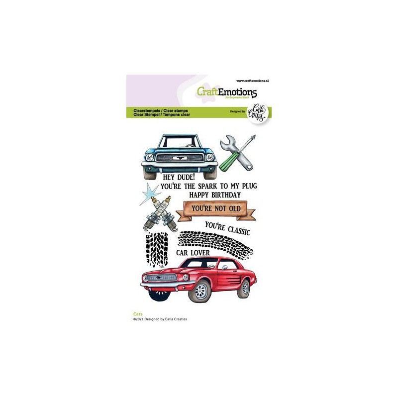 (1512)CraftEmotions clearstamps A6 - Cars Carla Creaties