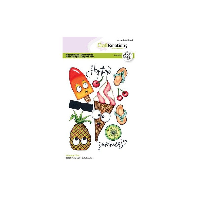 (1515)CraftEmotions clearstamps A6 - Summer Fun Carla Creaties