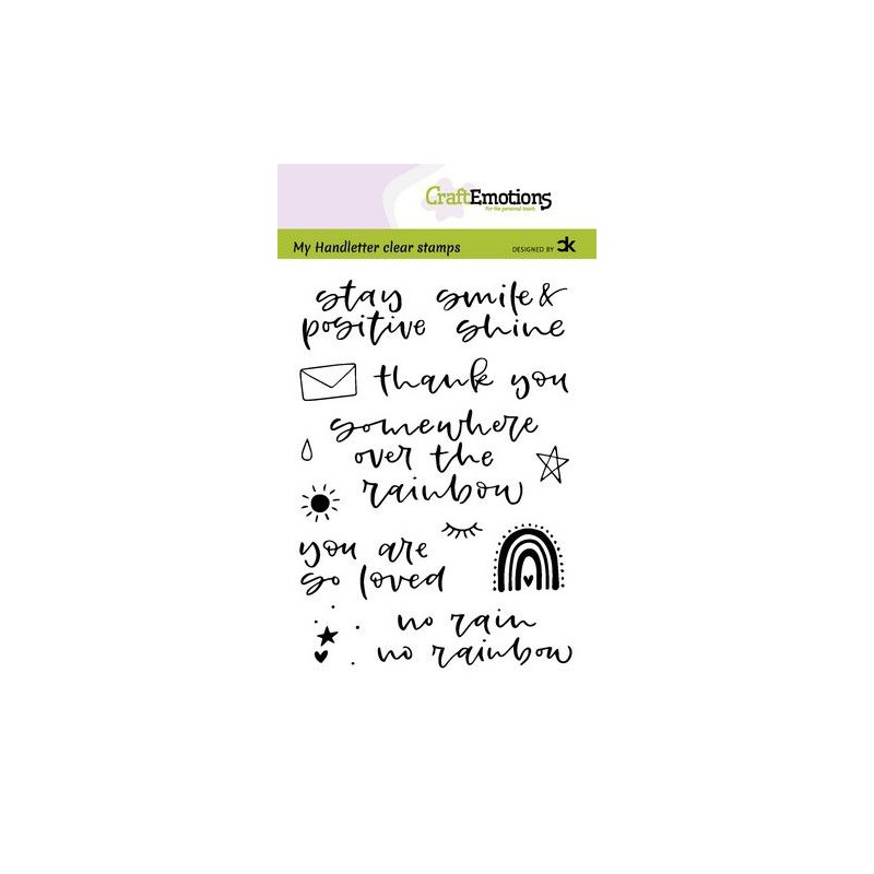 (2209)CraftEmotions clearstamps A6 - handletter - Rainbow 1