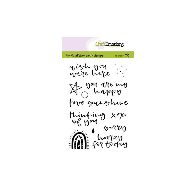 (2210)CraftEmotions clearstamps A6 - handletter - Rainbow 2