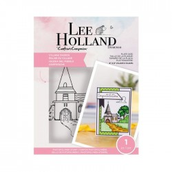 (LH-STP-VILCH)Crafter's Companion Lee Holland Clear Stamps Village Church