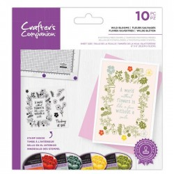 (CC-STP-WIBL)Crafter's Companion Wild Blooms Clear Stamps