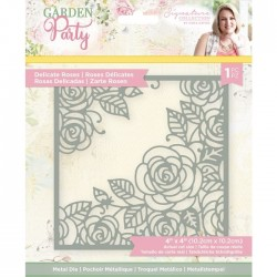(S-GP-MD-DELR)Crafter's Companion Garden Party Metal Die Delicate Roses
