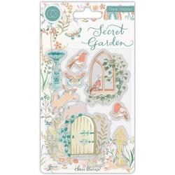 (CCSTMP060)Craft Consortium Secret Garden Clear Stamps